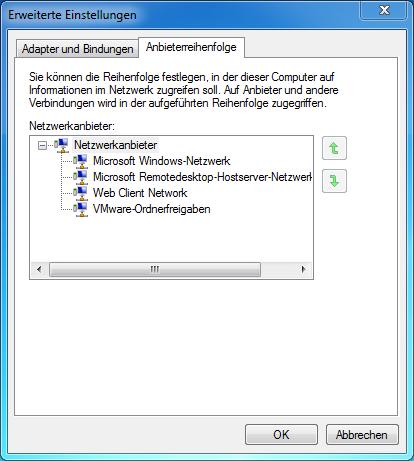 1 Netzwerk-Anbieterreihenfolge